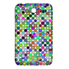 Colorful Dots Balls On White Background Samsung Galaxy Tab 3 (7 ) P3200 Hardshell Case