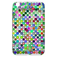 Colorful Dots Balls On White Background Samsung Galaxy Tab 3 (8 ) T3100 Hardshell Case