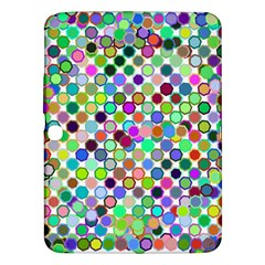 Colorful Dots Balls On White Background Samsung Galaxy Tab 3 (10.1 ) P5200 Hardshell Case
