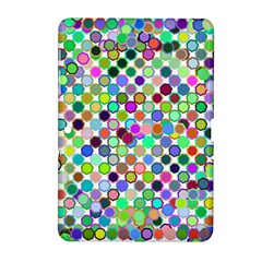 Colorful Dots Balls On White Background Samsung Galaxy Tab 2 (10.1 ) P5100 Hardshell Case
