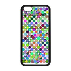 Colorful Dots Balls On White Background Apple iPhone 5C Seamless Case (Black)