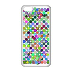 Colorful Dots Balls On White Background Apple Iphone 5c Seamless Case (white)