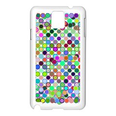 Colorful Dots Balls On White Background Samsung Galaxy Note 3 N9005 Case (White)