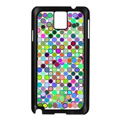 Colorful Dots Balls On White Background Samsung Galaxy Note 3 N9005 Case (Black)