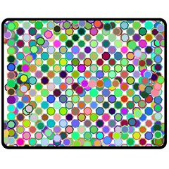 Colorful Dots Balls On White Background Double Sided Fleece Blanket (Medium)