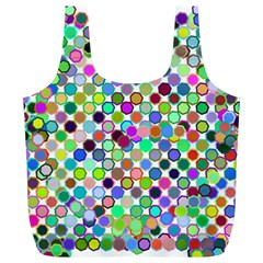Colorful Dots Balls On White Background Full Print Recycle Bags (L)