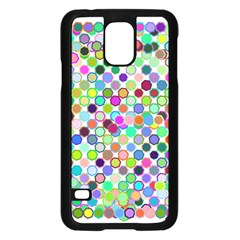 Colorful Dots Balls On White Background Samsung Galaxy S5 Case (Black)