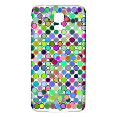 Colorful Dots Balls On White Background Samsung Galaxy S5 Back Case (White)