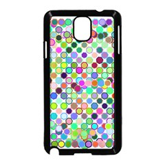 Colorful Dots Balls On White Background Samsung Galaxy Note 3 Neo Hardshell Case (Black)
