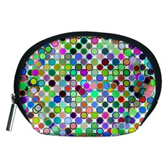 Colorful Dots Balls On White Background Accessory Pouches (Medium)