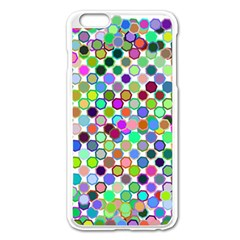 Colorful Dots Balls On White Background Apple Iphone 6 Plus/6s Plus Enamel White Case