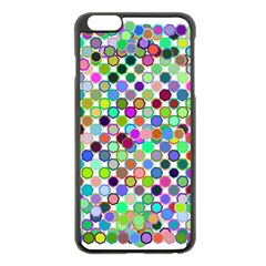 Colorful Dots Balls On White Background Apple iPhone 6 Plus/6S Plus Black Enamel Case