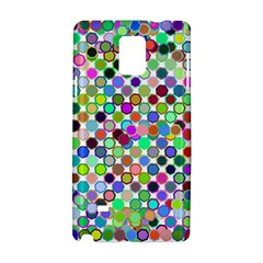 Colorful Dots Balls On White Background Samsung Galaxy Note 4 Hardshell Case