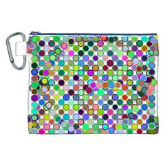 Colorful Dots Balls On White Background Canvas Cosmetic Bag (XXL)