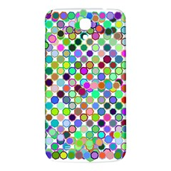 Colorful Dots Balls On White Background Samsung Galaxy Mega I9200 Hardshell Back Case