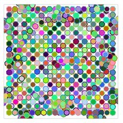 Colorful Dots Balls On White Background Large Satin Scarf (Square)