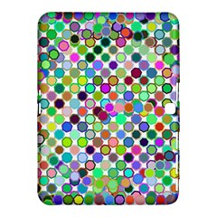 Colorful Dots Balls On White Background Samsung Galaxy Tab 4 (10 1 ) Hardshell Case
