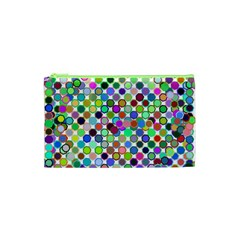 Colorful Dots Balls On White Background Cosmetic Bag (XS)