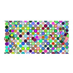 Colorful Dots Balls On White Background Satin Wrap