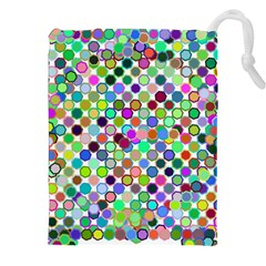 Colorful Dots Balls On White Background Drawstring Pouches (xxl)