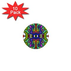 Abstract Shape Doodle Thing 1  Mini Buttons (10 pack)