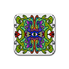 Abstract Shape Doodle Thing Rubber Coaster (square)