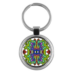 Abstract Shape Doodle Thing Key Chains (Round)