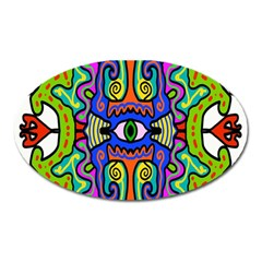 Abstract Shape Doodle Thing Oval Magnet