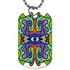 Abstract Shape Doodle Thing Dog Tag (two Sides)
