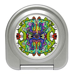 Abstract Shape Doodle Thing Travel Alarm Clocks