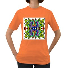 Abstract Shape Doodle Thing Women s Dark T Shirt