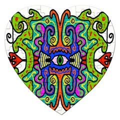 Abstract Shape Doodle Thing Jigsaw Puzzle (heart)