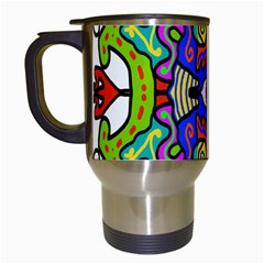 Abstract Shape Doodle Thing Travel Mugs (white)
