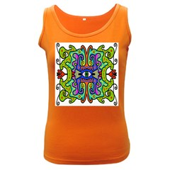 Abstract Shape Doodle Thing Women s Dark Tank Top