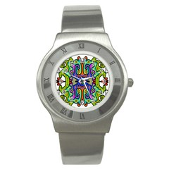 Abstract Shape Doodle Thing Stainless Steel Watch