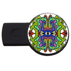 Abstract Shape Doodle Thing Usb Flash Drive Round (4 Gb)