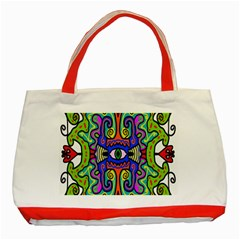 Abstract Shape Doodle Thing Classic Tote Bag (Red)