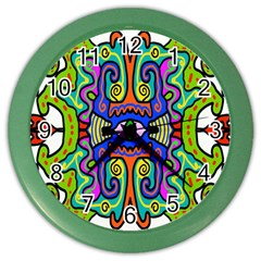 Abstract Shape Doodle Thing Color Wall Clocks