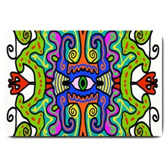 Abstract Shape Doodle Thing Large Doormat
