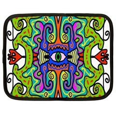 Abstract Shape Doodle Thing Netbook Case (large)