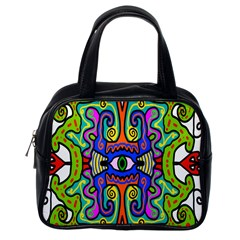 Abstract Shape Doodle Thing Classic Handbags (one Side)