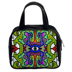Abstract Shape Doodle Thing Classic Handbags (2 Sides)