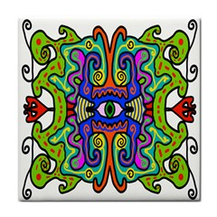 Abstract Shape Doodle Thing Face Towel