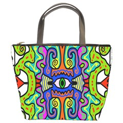 Abstract Shape Doodle Thing Bucket Bags