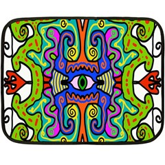 Abstract Shape Doodle Thing Double Sided Fleece Blanket (mini)