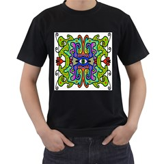 Abstract Shape Doodle Thing Men s T Shirt (black)