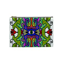 Abstract Shape Doodle Thing Cosmetic Bag (medium)