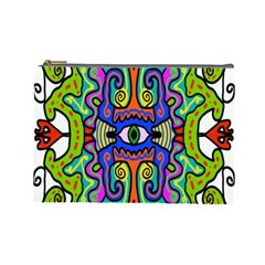 Abstract Shape Doodle Thing Cosmetic Bag (large)