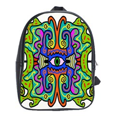 Abstract Shape Doodle Thing School Bags(large)