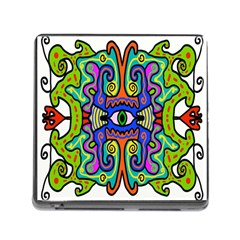 Abstract Shape Doodle Thing Memory Card Reader (square)